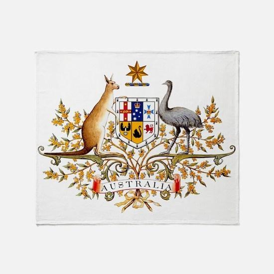 Cute Australia flag Throw Blanket
