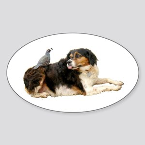 Quail Dog Sticker (Oval)