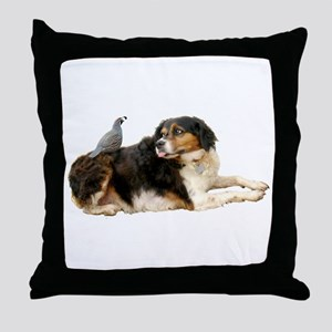 Quail Dog Throw Pillow