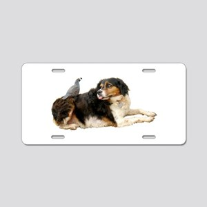 Quail Dog Aluminum License Plate