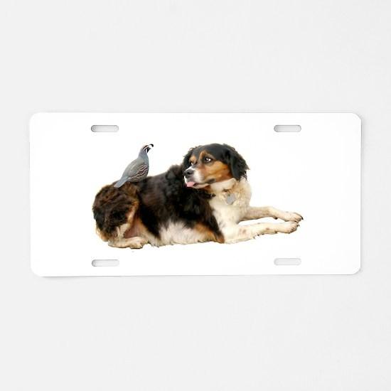 Quail Dog Aluminum License Plate