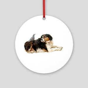 Quail Dog Ornament (Round)