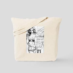 Hot comic book style girl graphic joke Tote Bag