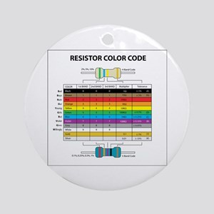 Resistor Color Ornament (Round)