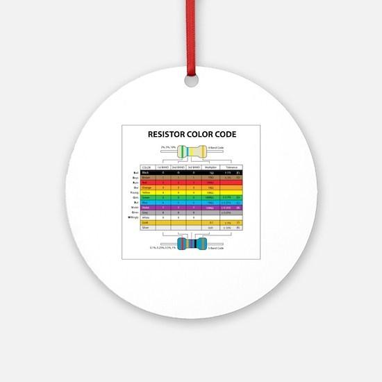 Resistor Color Ornament (Round)