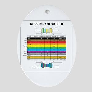 Resistor Color Oval Ornament