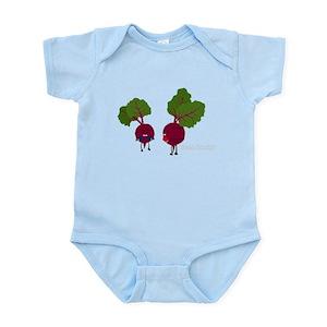 62215da77740 Vegetable Puns Baby Bodysuits - CafePress