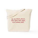 Contra Cheat Code Tote Bag