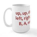 Contra Cheat Code Large Mug