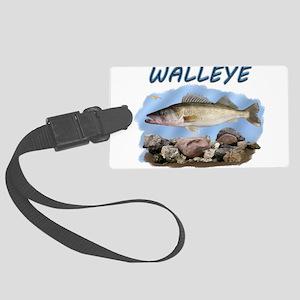 Walleye rocks Luggage Tag