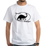 Never Forget Dinosaurs White T-Shirt