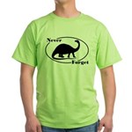 Never Forget Dinosaurs Green T-Shirt
