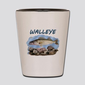 Walleye rocks Shot Glass
