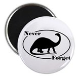 """Never Forget Dinosaurs 2.25"""" Magnet (10 pack)"""