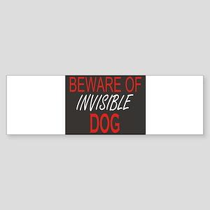 Beware of Invisible Dog Sticker (Bumper)