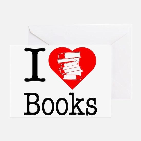 I Heart Books or I Love Books Greeting Card