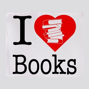I Heart Books or I Love Books Throw Blanket