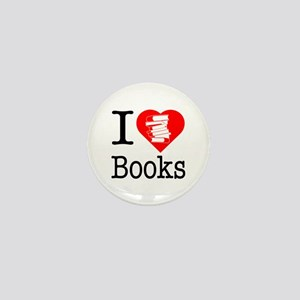 I Heart Books or I Love Books Mini Button