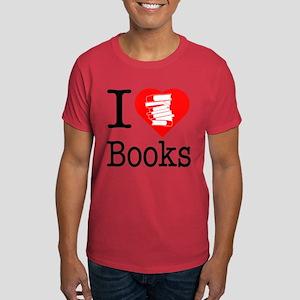 I Heart Books or I Love Books Dark T-Shirt