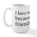 I Love My Computer Friends Large Mug