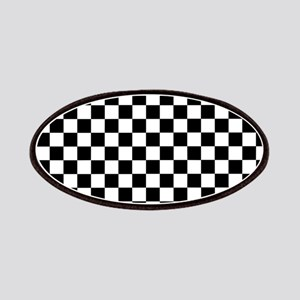 Black White Checkered Patch