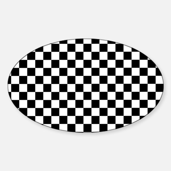 Black White Checkered Decal