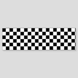 Black White Checkered Bumper Sticker