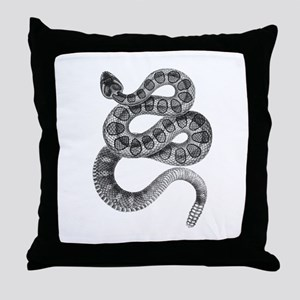 Rattlesnake Throw Pillow