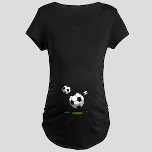Soccer (8) Maternity Dark T-Shirt