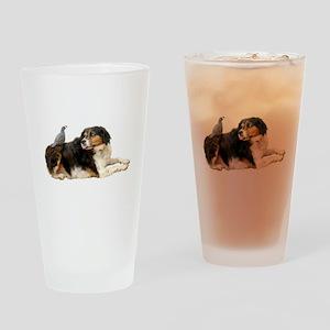 Quail Dog Drinking Glass