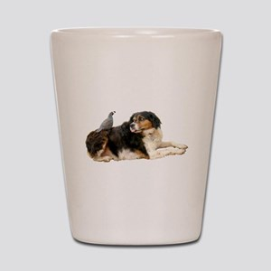 Quail Dog Shot Glass