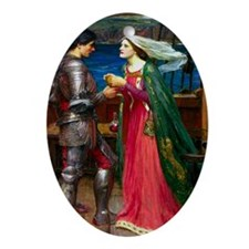 Tristan & Isolde share potion Oval Ornament