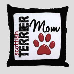 Scottish Terrier Mom 2 Throw Pillow