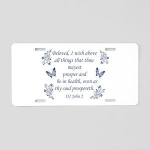 Inspirational Bible verses Aluminum License Plate