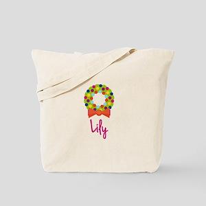 Christmas Wreath Lily Tote Bag