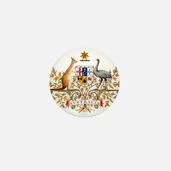 Australia Coat of Arms, coat of arms,f Mini Button