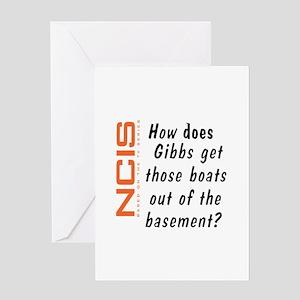 NCIS - Gibbs' Boats Greeting Card