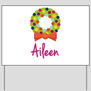 Christmas Wreath Aileen Yard Sign