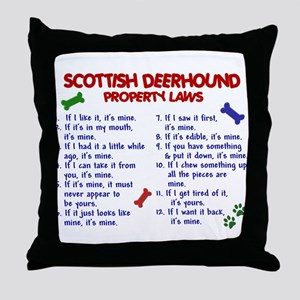Scottish Deerhound Property Laws 2 Throw Pillow