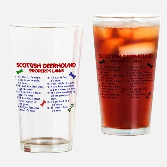 Scottish Deerhound Property Laws 2 Drinking Glass