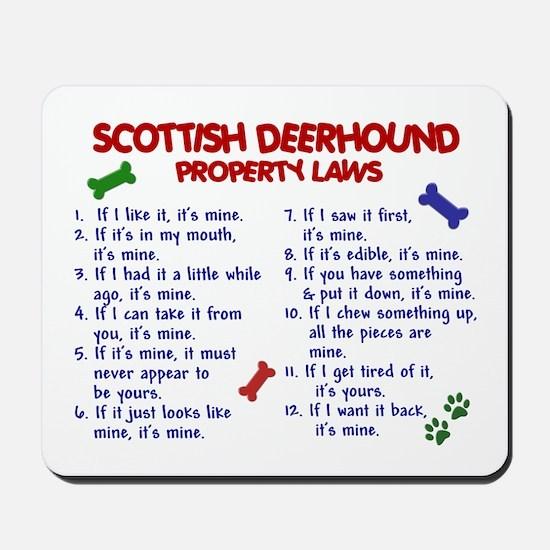 Scottish Deerhound Property Laws 2 Mousepad