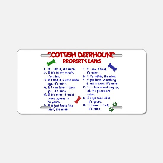 Scottish Deerhound Property Laws 2 Aluminum Licens