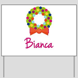 Christmas Wreath Bianca Yard Sign
