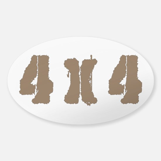 Off Road 4 x 4 Sticker (Oval)