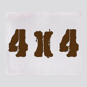 Off Road 4 x 4 Throw Blanket