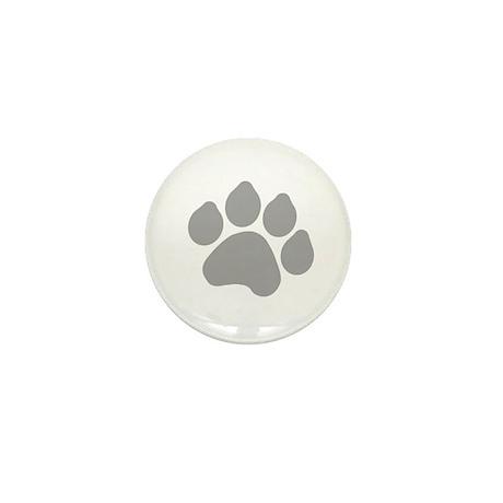 Silver Paw Print Design Mini Button (10 pack)