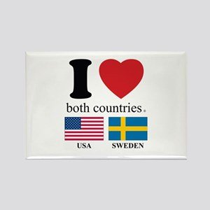 USA-SWEDEN Rectangle Magnet