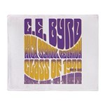 C.E. Byrd Reunion Type only Throw Blanket