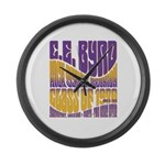 C.E. Byrd Reunion Type only Large Wall Clock