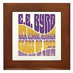 C.E. Byrd Reunion Type only Framed Tile